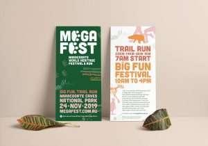 Mega Fest DL flyer designed by Flux Visual Communication