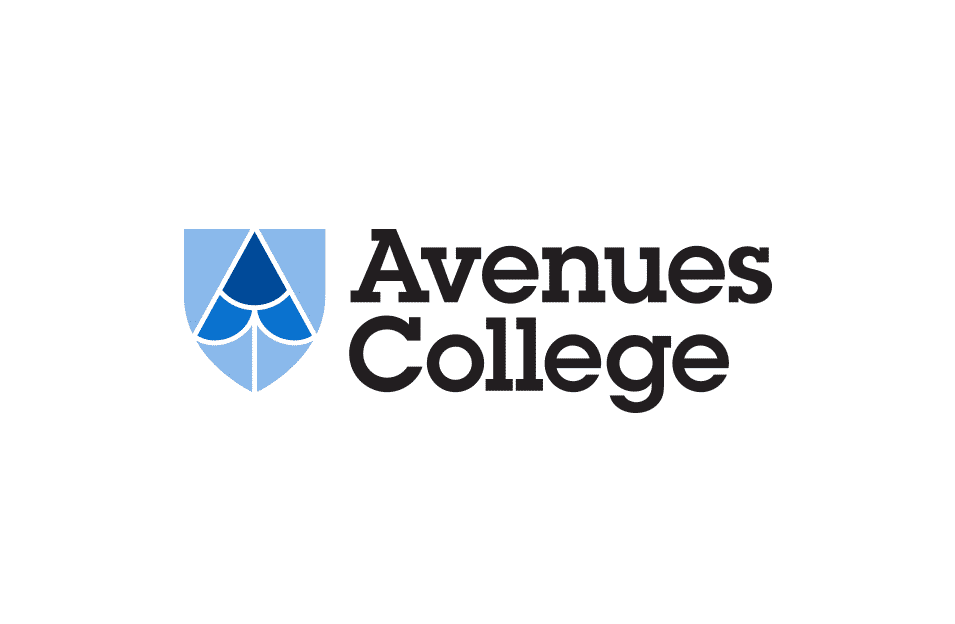 Avenues College brand design by Flux Visual Communication