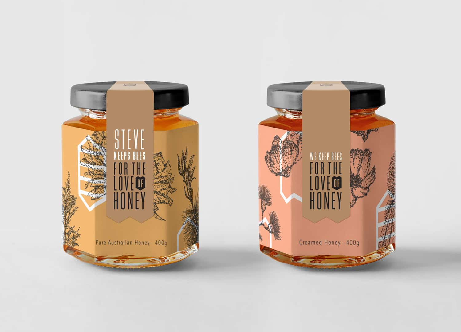 For the Love of Honey, unique honey packaging for Adelaide Hills beekeepers
