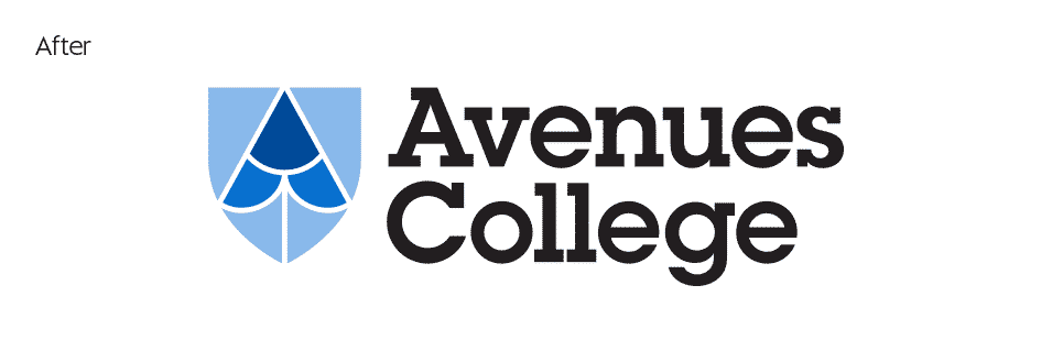New Avenues College identity design by Flux Visual Communication