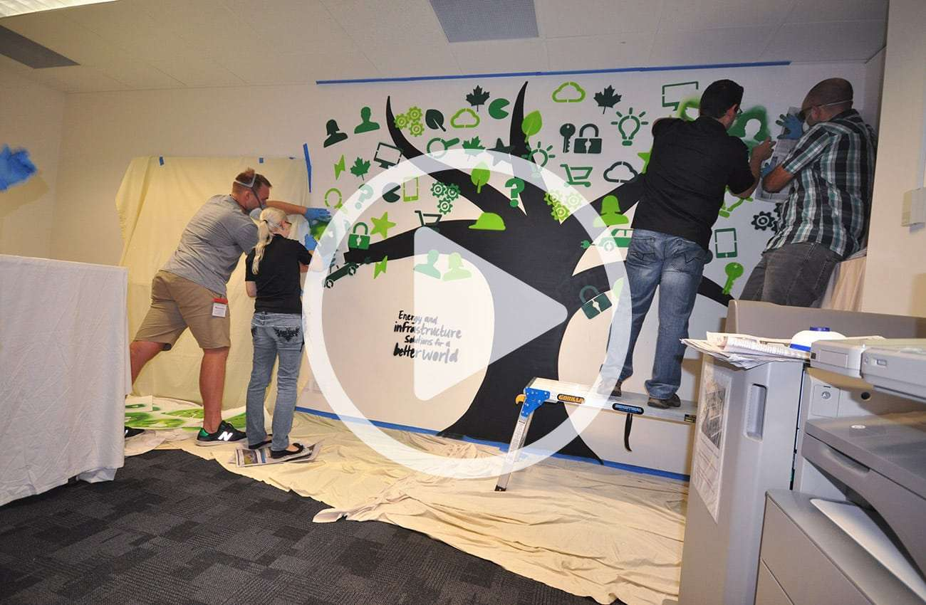 ElectraNet mural design in collaboration with Flux Visual Communication