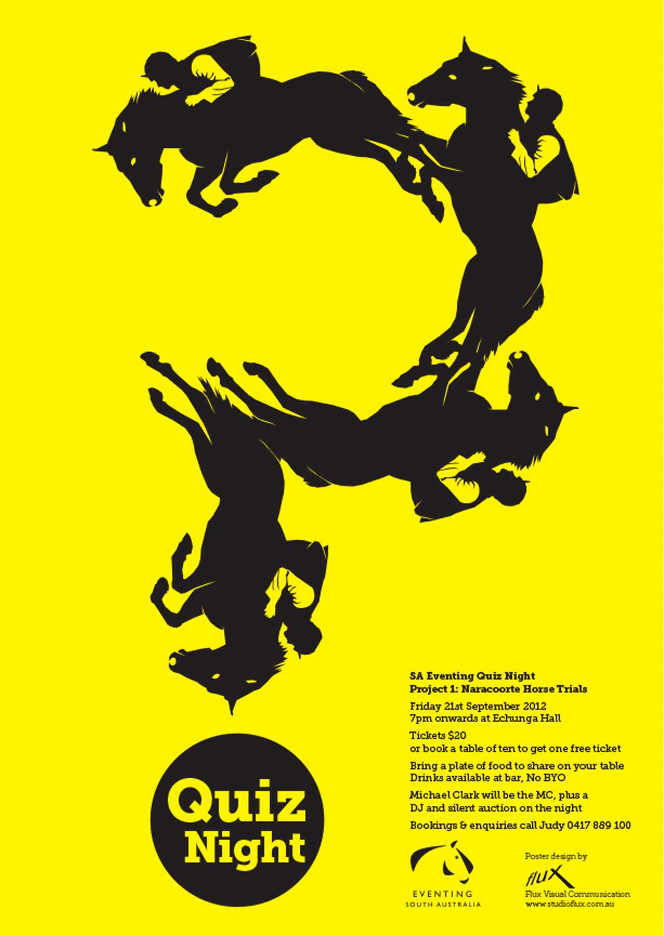 Adelaide Hills Quiz Night poster design by Flux Visual Communication