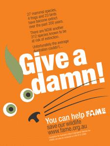 Poster design for Foundation for Australia's Most Endangered Species Inc. (FAME)