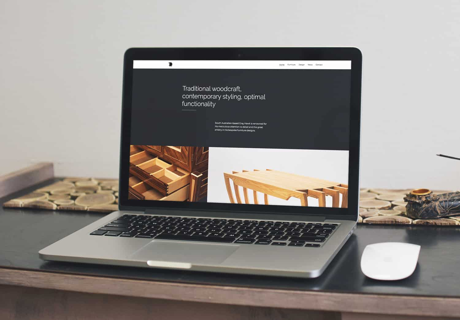 Wordpress website designed for Gray Hawk by Flux Visual Communication