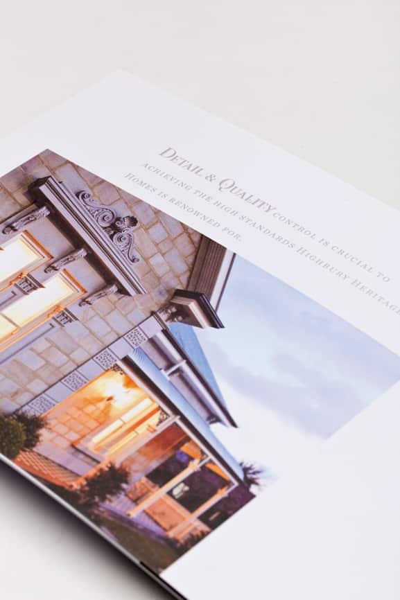 Highbury Heritage Homes Brochure design