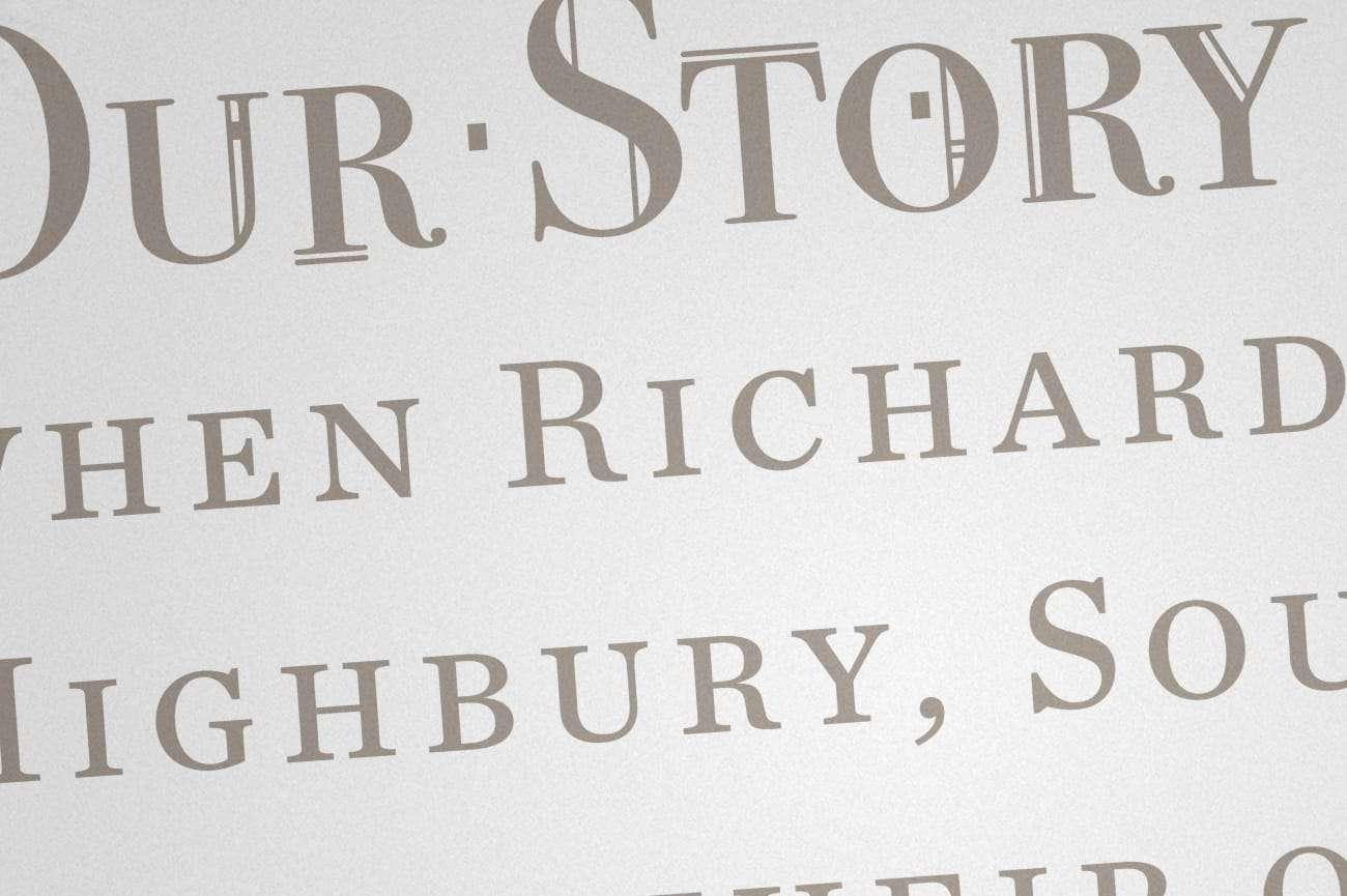 Highbury Heritage Homes typography design