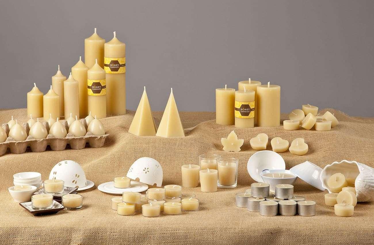 Honey Candles packaging design Adelaide Hills