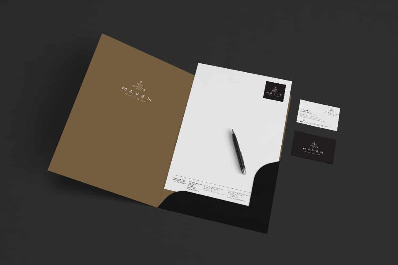 maven stationery design