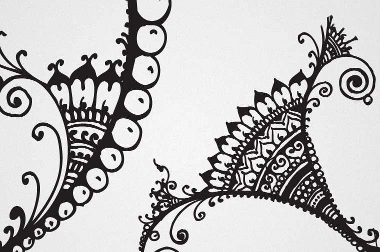 Detail in Humna's original ink drawings for OzAsia advert