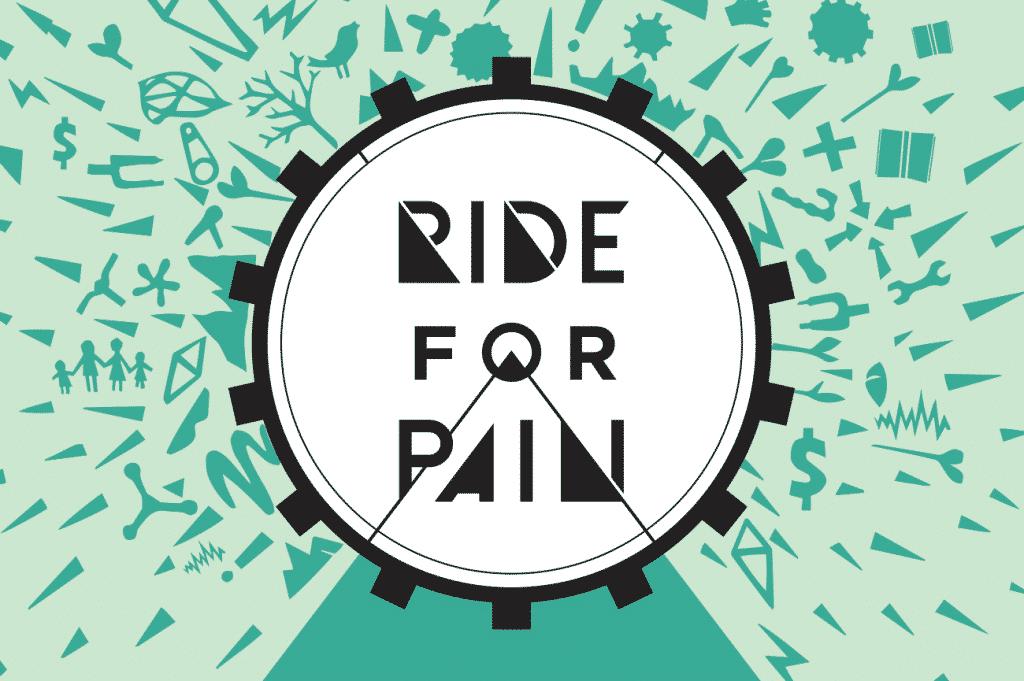 Ride for pain logo design adelaide