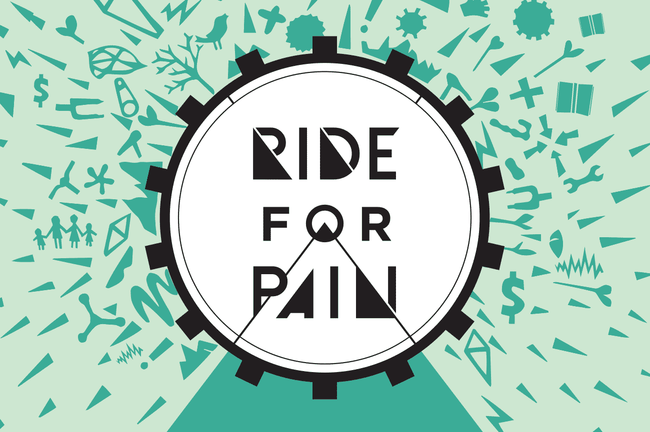 Ride for pain logo design adelaide