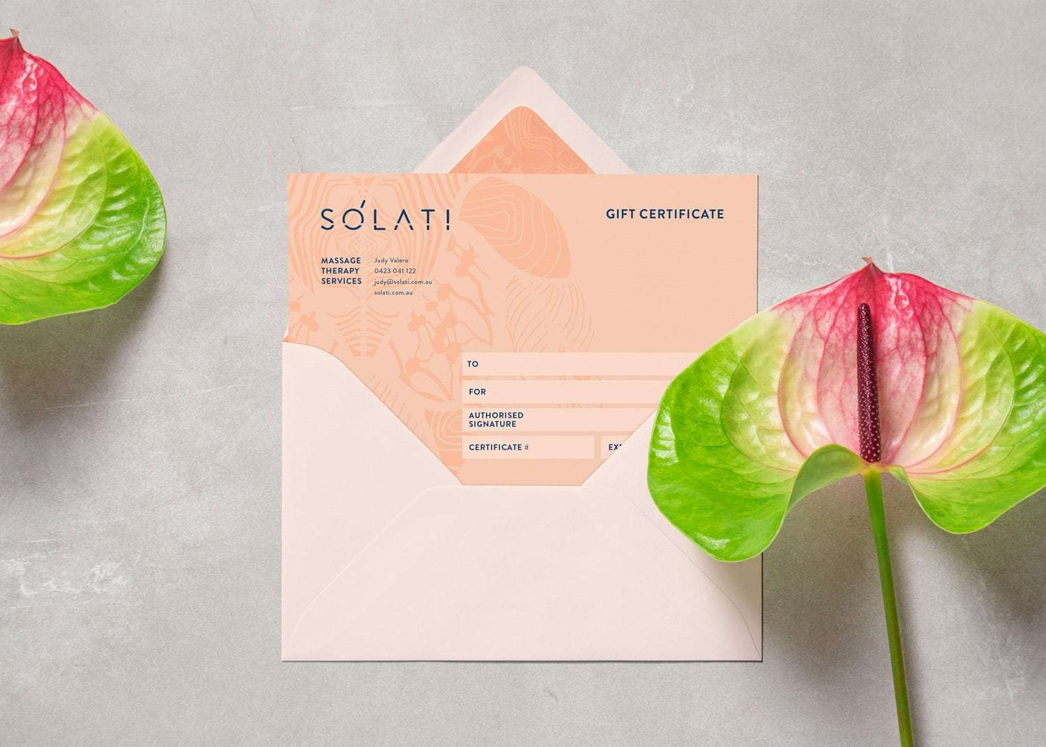 Solati oncology massage services identity by Flux Visual Communication