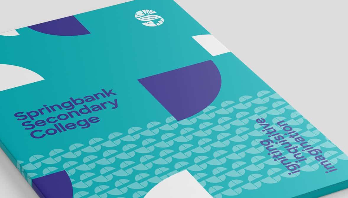 Springbank College folder design by Flux Visual Communication