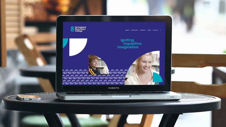 Springbank College website design by Flux Visual Communication