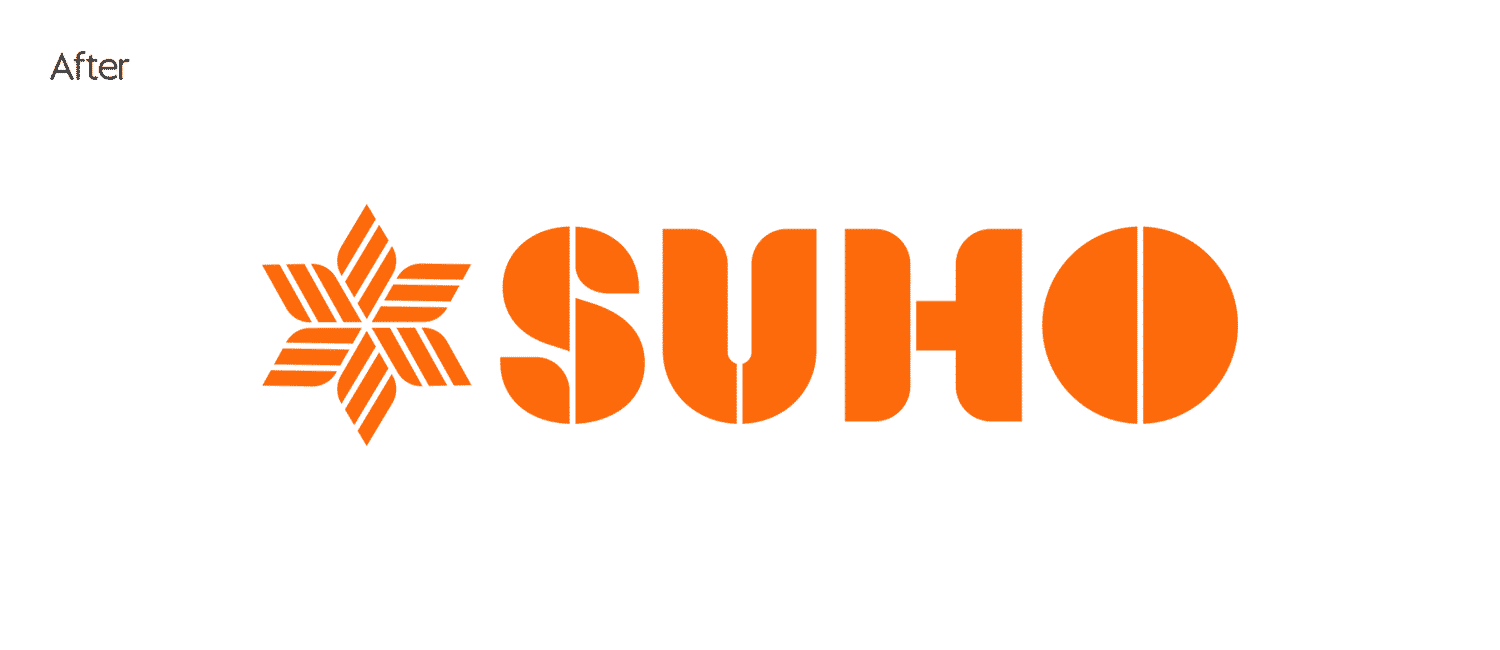 New SUHO logo by Flux Visual Communication