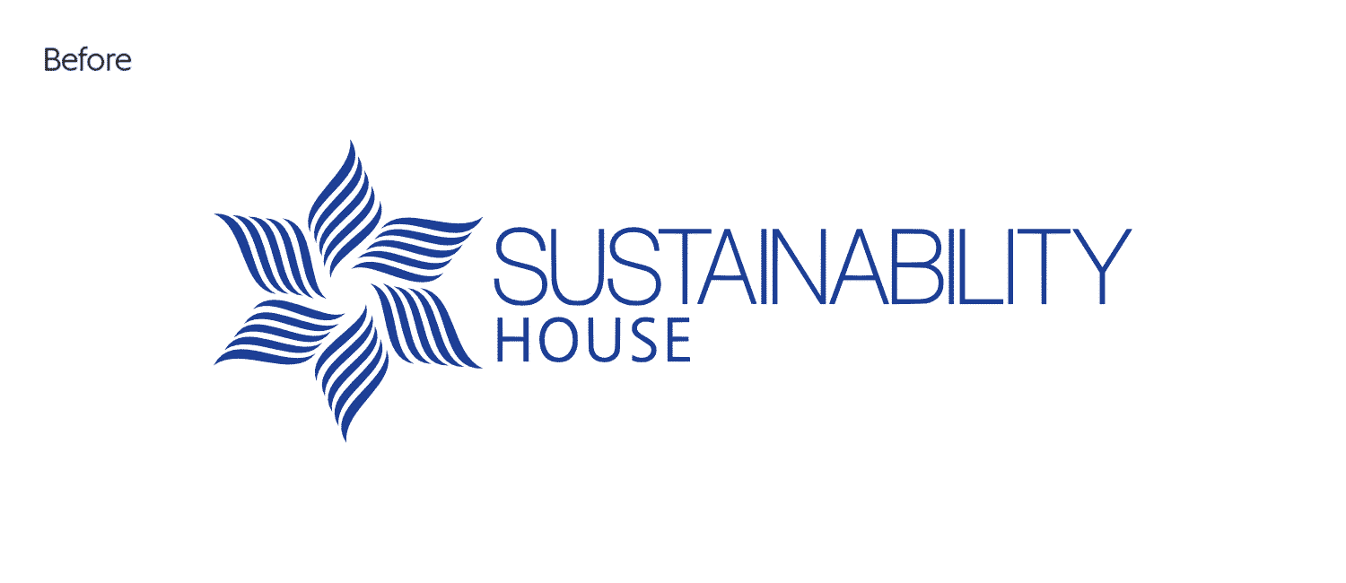 Sustainability House old logo design