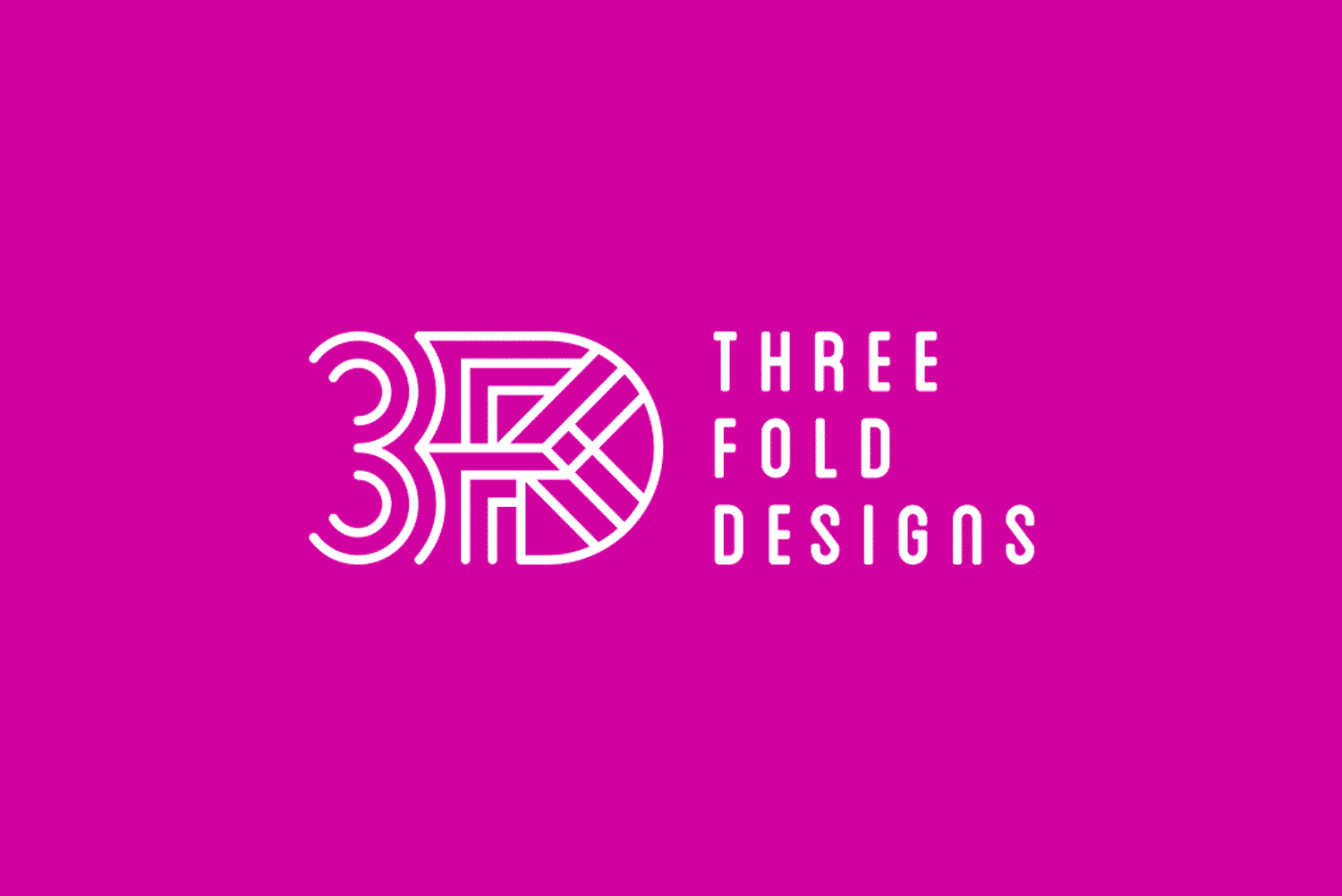 Threefold Designs logo by Flux Visual Communication