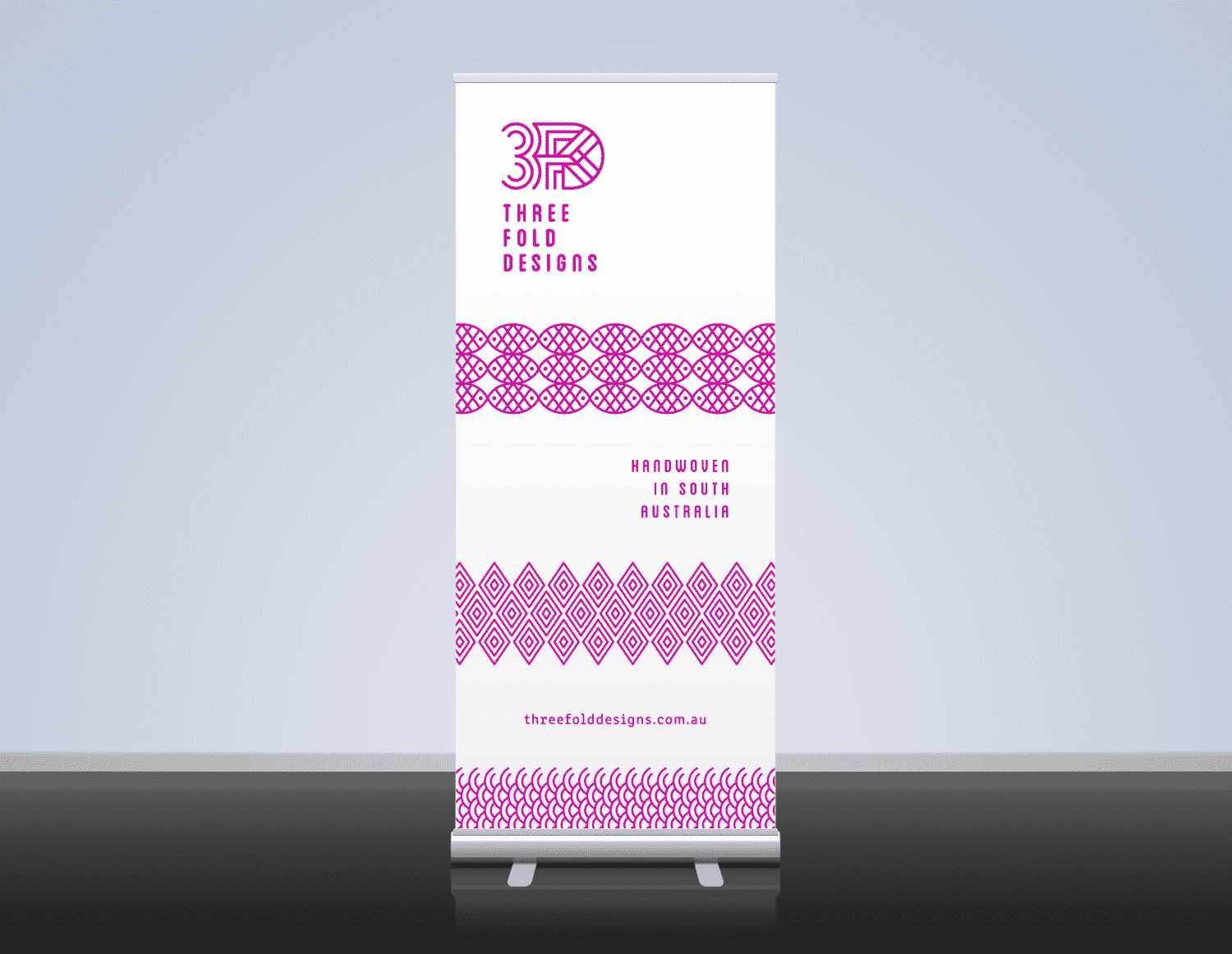 Threefold Designs roll up banner by Flux Visual Communication