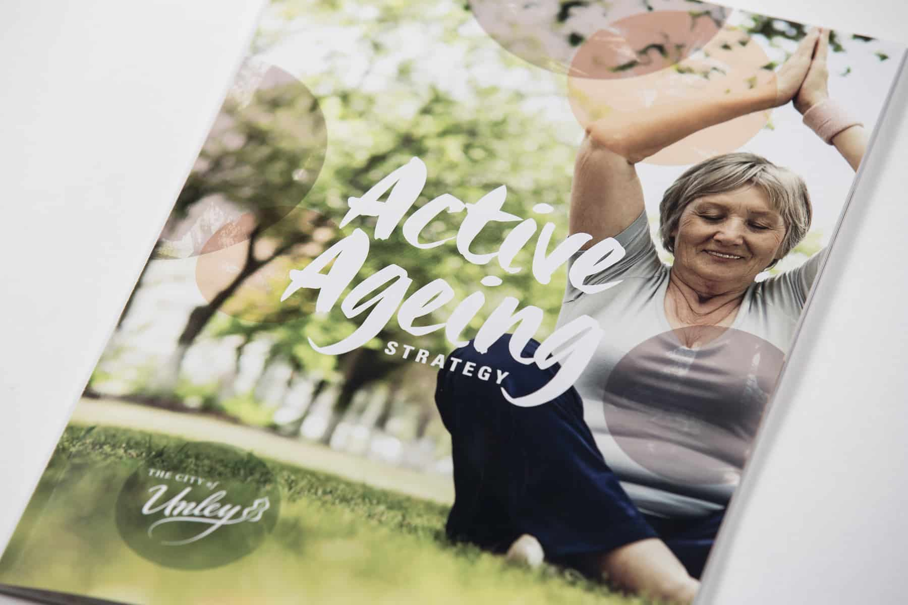 Active Ageing Strategy design by Flux Visual Communication for the City of Unley