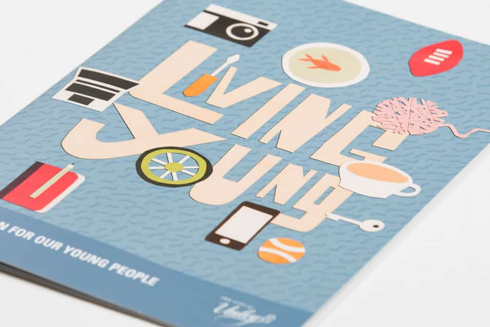 Living Young Youth Strategy designed by Flux Visual Communication for City of Unley