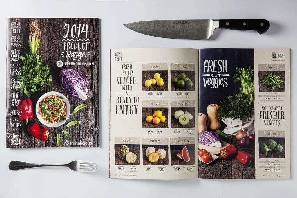 Fruitalicious catalogue design by Flux Visual Communication