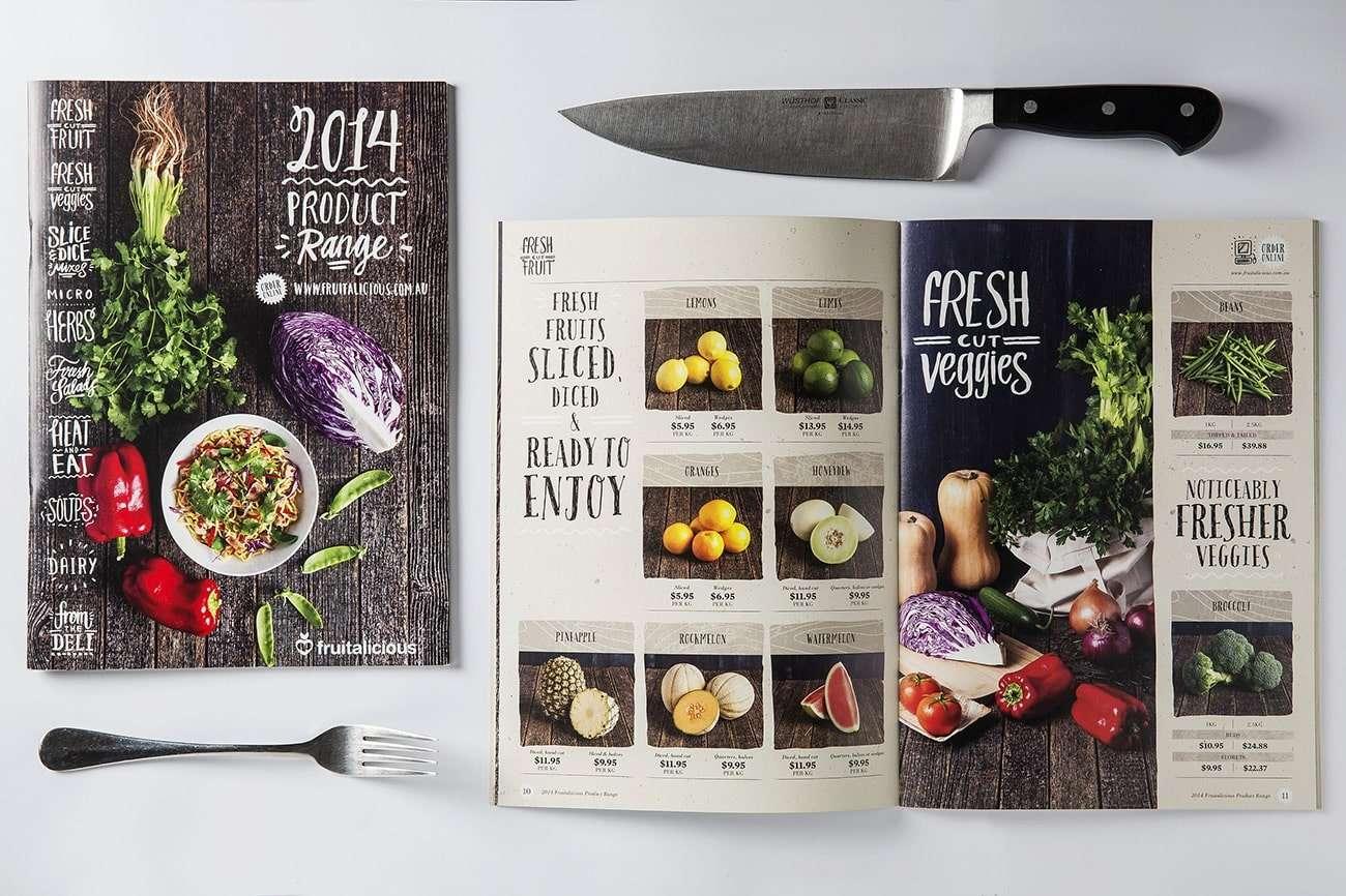 Fruitalicious catalogue design by Flux Visual Communication