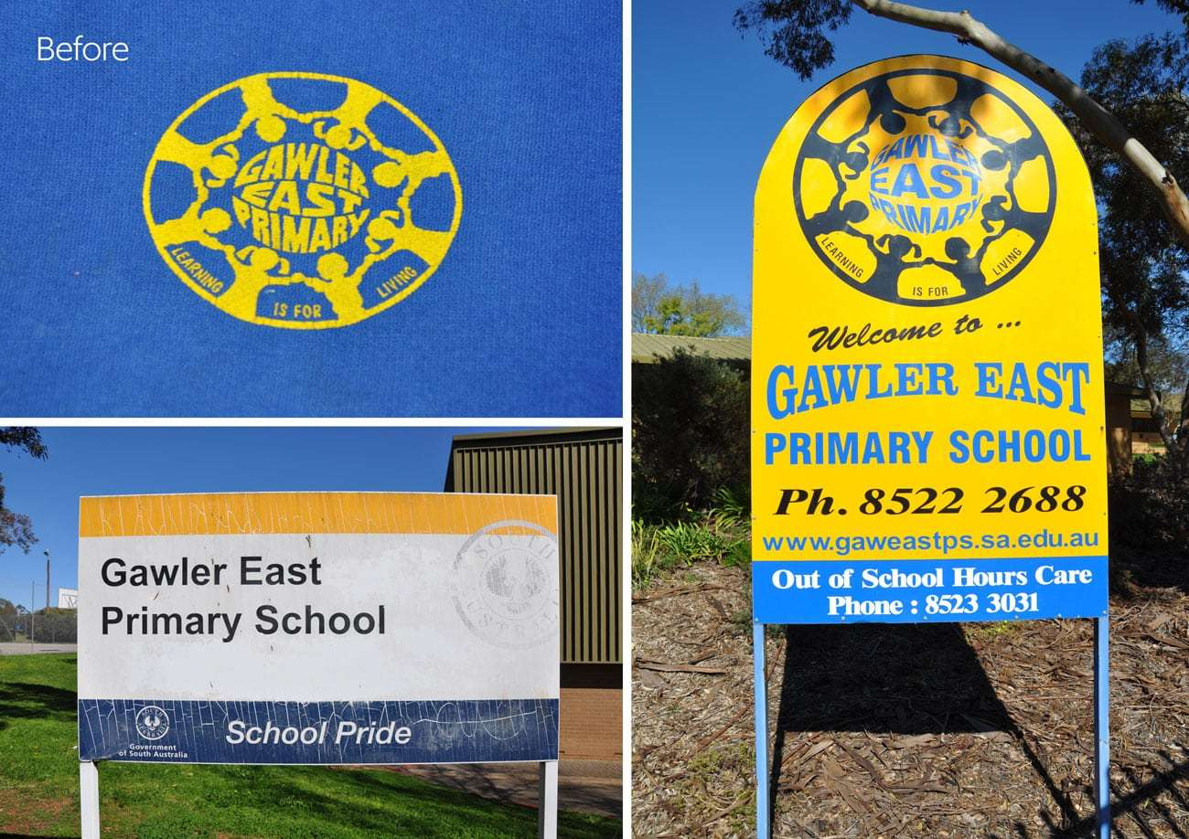Gawler East Primary School logos before