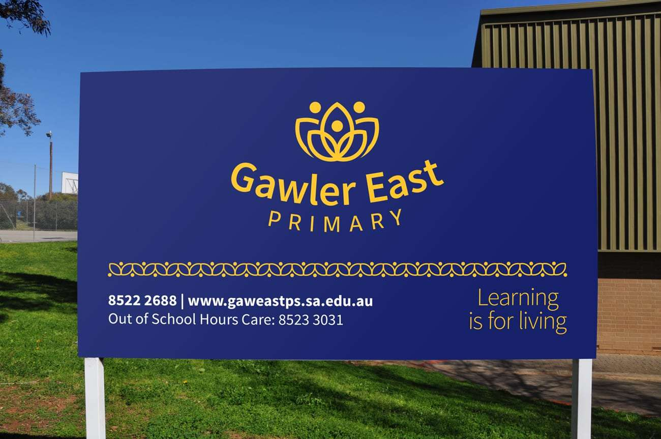 Signage for Gawler East Primary School by Flux Visual Communication