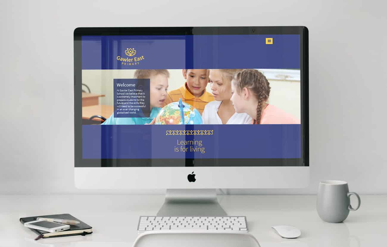 Web design for Gawler East Primary School by Flux Visual Communication