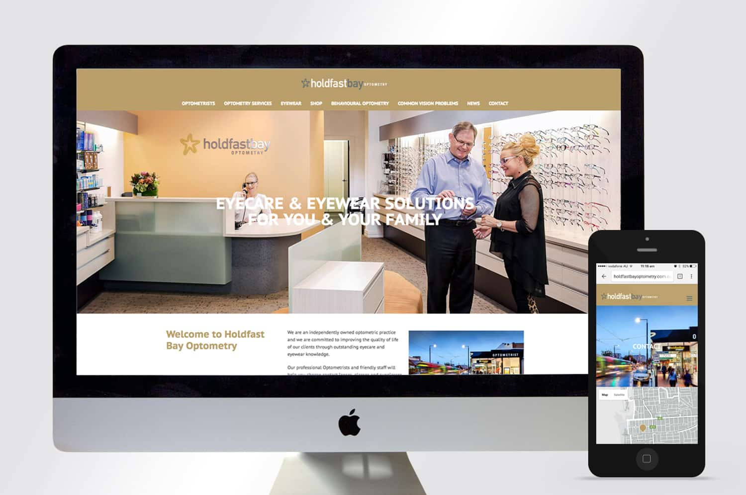 Holdfast Bay Optometry wordpress website by Flux Visual Communication