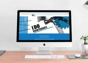 Responsive website design for i do maintenance by Flux Visual Communication