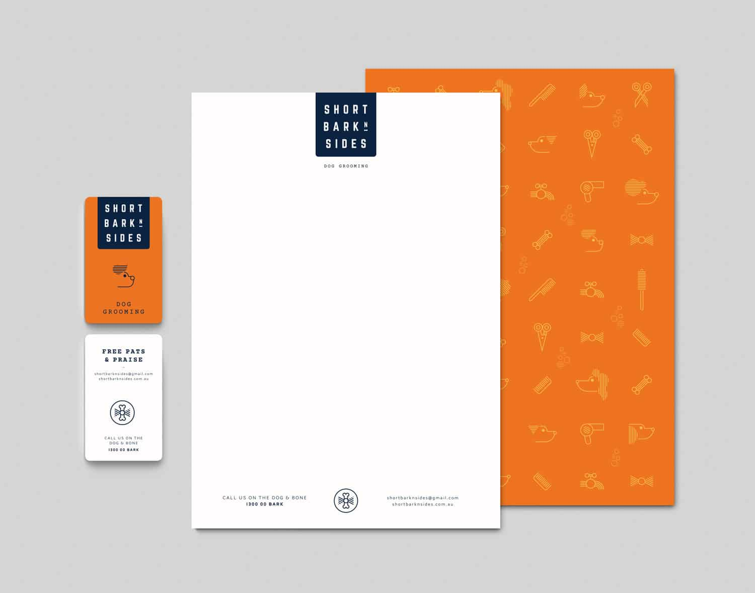 Short Bark N Sides stationery by Flux Visual Communication