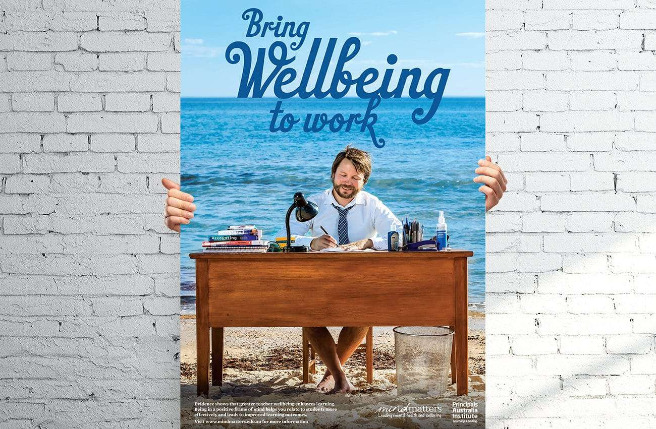 teacher wellbeing poster design adelaide