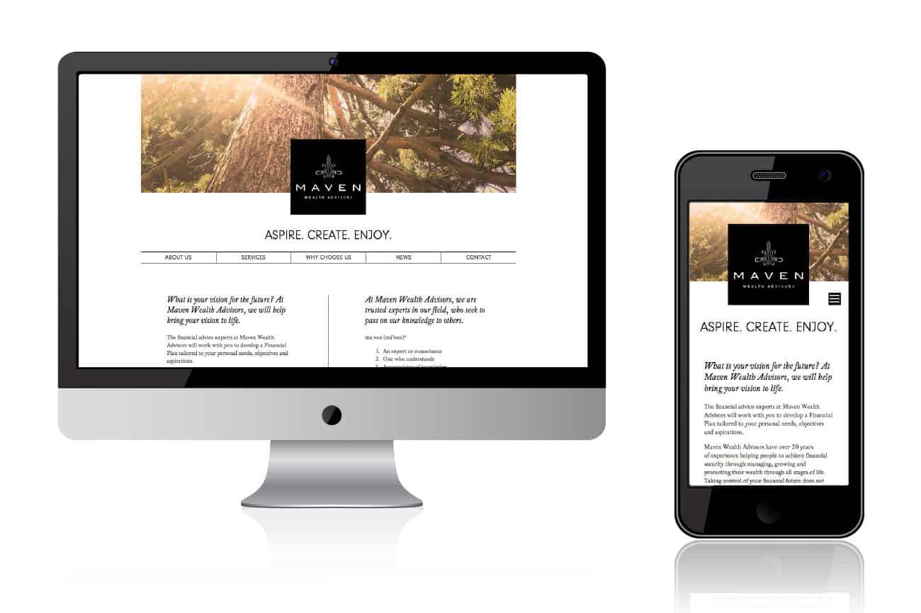 maven website design