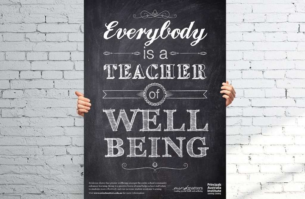 wellbeing typographic poster design adelaide