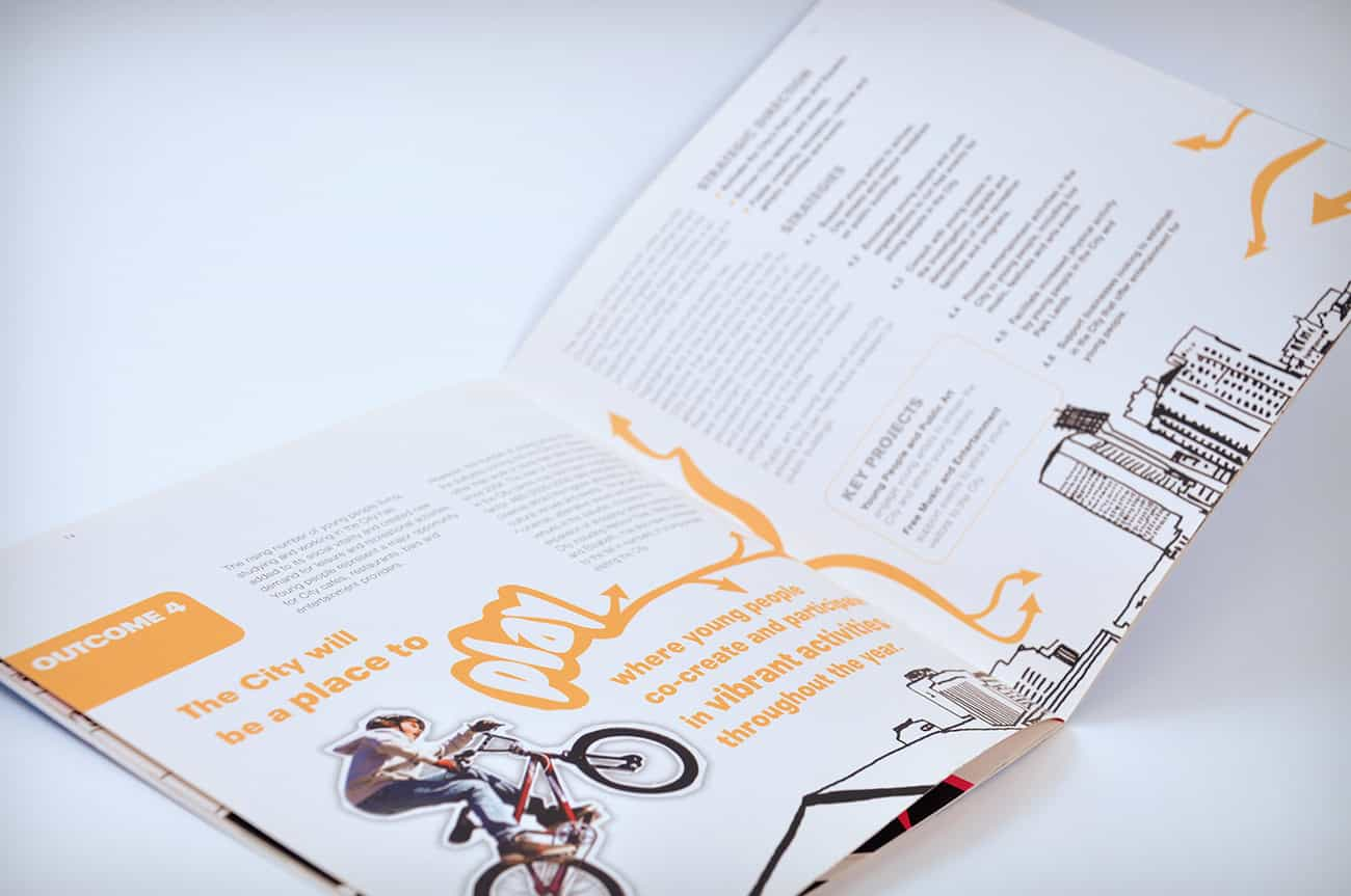Youth Strategy brochure design for Adelaide City Council by Flux Visual Communication