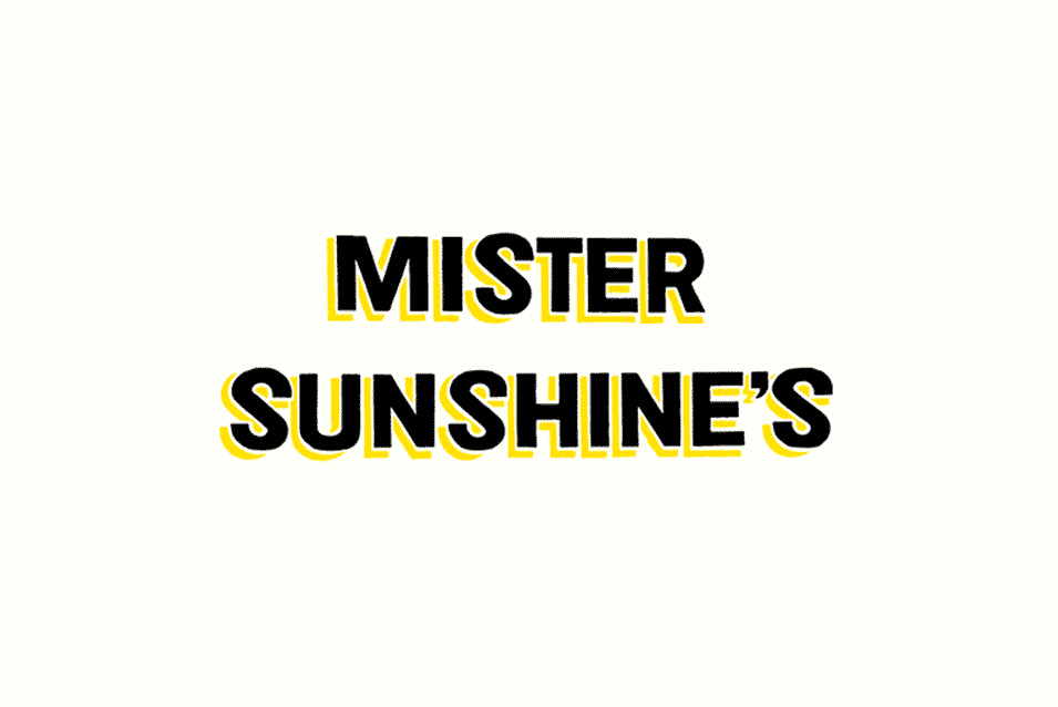 Mister Sunshines Cafe logo sign writing design