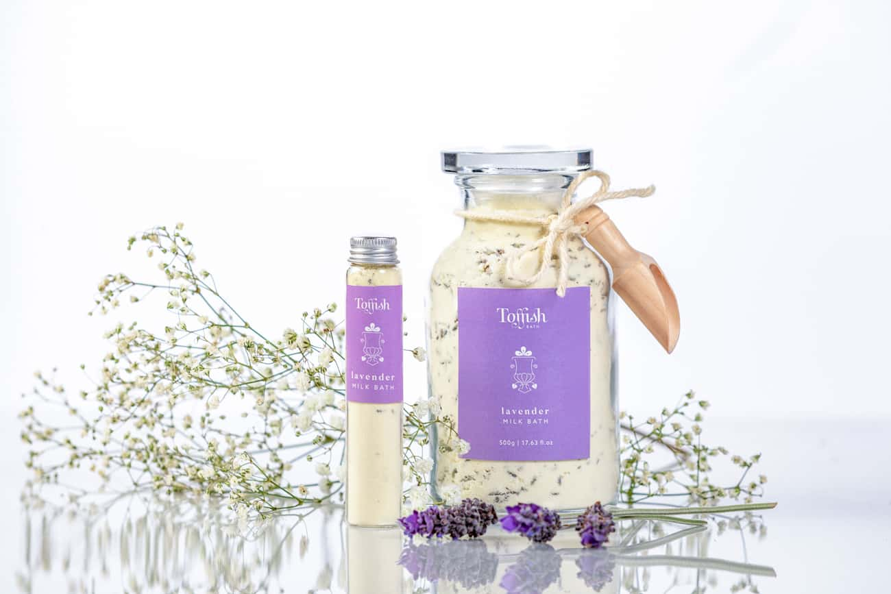 Milk bath package design for Adelaide Hills boutique, Toffish