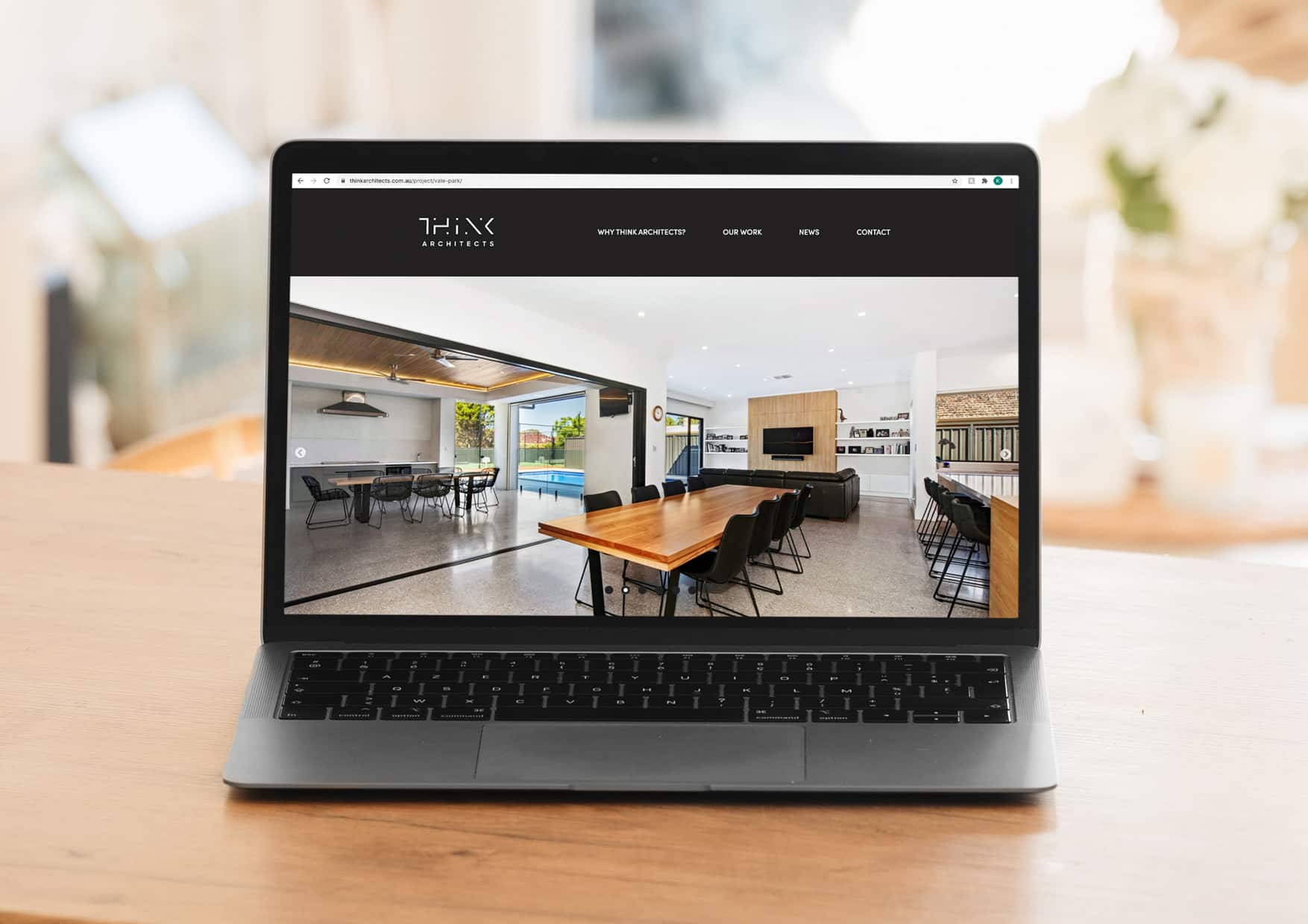 Think Architects website design by Flux Visual Communication, Adelaide