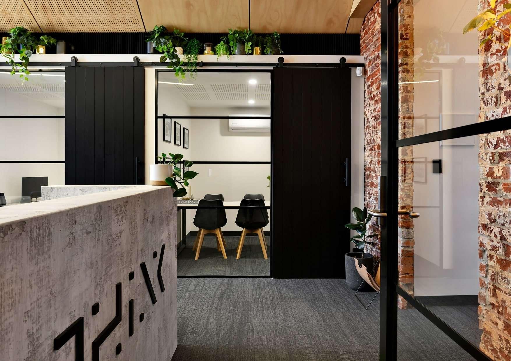 Think Architects office signage design, Flux Visual Communication, Adelaide